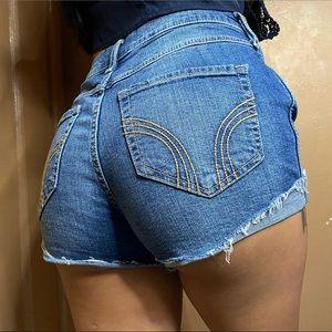 Hollister Denim High-Rise Short Short Size 3